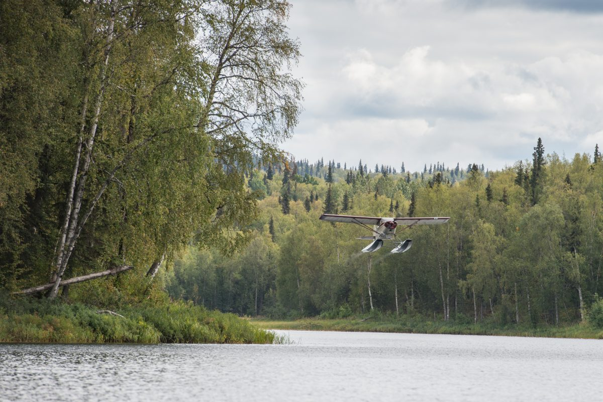 Take-off from Christiansen Lake | © Christian Martischius