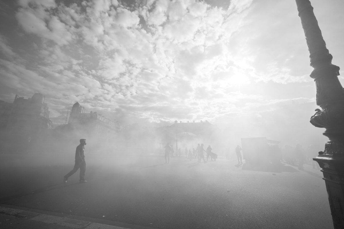 "Paris the ""city of love"" seen through a fog of tear gas 